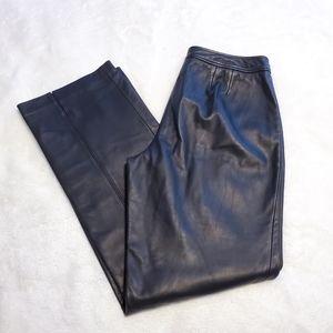 Loft Straight Leg Buttery Soft Leather Pants